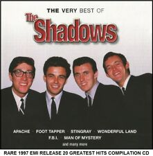 The Shadows Very Best 20 Greatest Hit Collection RARE CD Hank Marvin Guitar 60's