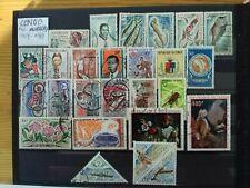 CONGO République de 1959 à 1969 lot de 26 timbres