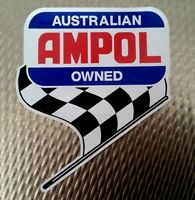 AMPOL FLAG F1 PROMO VINYL STICKER / DECAL OIL GAS FORMULA 1 V8 RACING CHEQUERED
