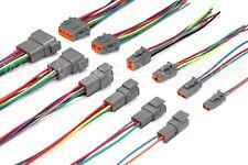 6 Assembled Deutsch Dtm 2346812 Pin 16 18 Amp 20 Awg Waterproof Connector