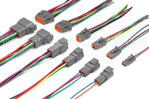 """6"""" Assembled Deutsch DTM 2,3,4,6,8,12 Pin 16, 18 & 20 AWG  waterproof connector"""