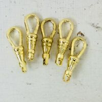 10pc lot Swivel Clip Pocket Watch chain repair Brass Gold tone Lanyard Clasp 1""