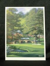 The Masters Hole #11 At Augusta National Golf Lithograph By Larry Dyke Vertical
