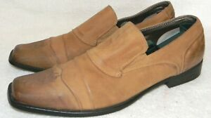 BACK STAGE by Skechers tan leather square toes men's loafers, sz. 11M
