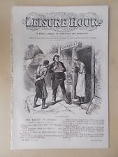 ANTIQUE VICTORIAN THE LEISURE HOUR MAGAZINE PAPER No 1016 JUNE 17th 1871