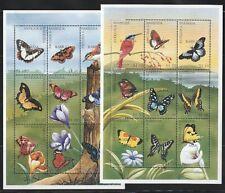 Antigua-B.   1997   Sc # 2043-44   Butterflies   2  Sheet of 9   MNH   (55001)