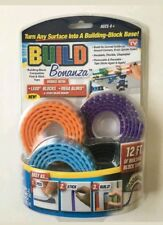 Build Bonanza Lego Building Block Tape 4 Pack (3 Ft Rolls) Removable & Reusable