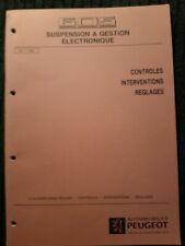 (305MB) Manuel d'atelier PEUGEOT 605 - Suspension à gestion électronique.