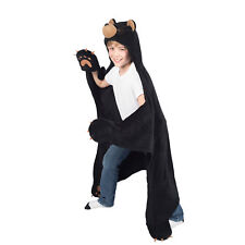 Wild Things Cinder Black Bear, Hooded Animal Blanket by Fin Fun