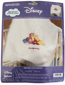 Disney Janlynn Counted Cross Stitch Afghan Kit 1133-21 Time For A Little Snooze