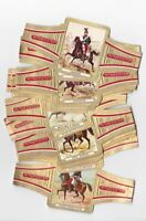28 BIG cigar bands Ritmeester Uniforms - The French Cavalry iss in 1965