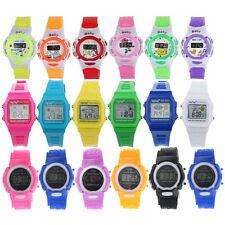 Fashion Child Boy Girls Kids Electronic Digital Alarm Watches Sports Wrist Watch