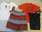 NEW Boys Under Armour 4Pc Patriotic OUTFIT UPF50Tee+2 Shorts+Red Tee 7 FREE SHIP