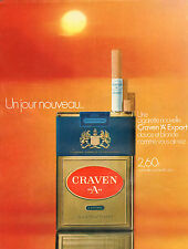 "Publicité Advertising 1971  Cigarettes nouvelle Craven ""A"" Export"