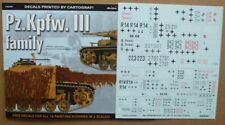 Pz.Kpfw. III family (decals) - TOPCOLORS,  KAGERO (English!)