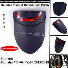 ABS Plastic Front Fender Extension Protector For Yamaha MT-09 FZ-09 13-18 Black