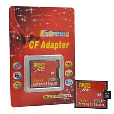 Single Slot Compact Flash CF Type I to Micro SD TF Memory Card Adapter Convertor
