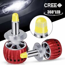 2pcs 35W 3000LM H7 LED COB Car Headlight Conversion Kit Lamp Bulbs 6000K White