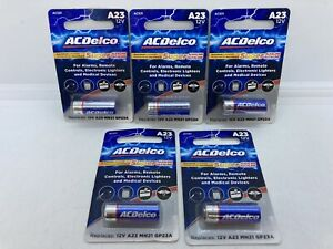 Lot of 5 AC Delco A23 Batteries 12V