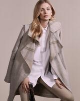 INTERMIX $629 Cedric Plaid Asymmetric Waterfall Coat Jacket Top Size Petite