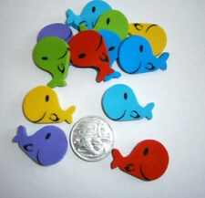 6 x Whale Shaped Erasers, Eraser, Rubbers, Party, School, Sea Life, Party