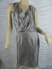 TABLE EIGHT taupe cross over sleeveless evening dress size 18 BNWT