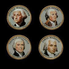 2007 Colorized Set Of President Dollar Coins - D Mint (Colorized Head Only)
