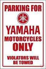 YAMAHA MOTORCYCLE PARKING SIGN -aluminum top quality