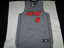 Adidas Men's Miami Heat #6 Lebron James Jersey NWT SEWN Large
