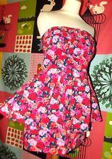 NEW LOOK  MINI ROBE BUSTIER DRESS FIFTIES  JUPETTE  SMOCKS T UK 10 OU 36/42