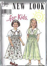 6486 Vintage UNCUT New Look SEWING Pattern 4 5 6 7 8 9 Girls Blouse Jumper OOP