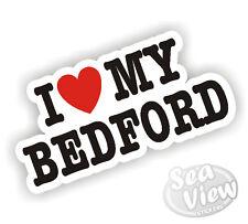 I Heart Love My Bedford Rascal Sticker Car Van Pickup Decal