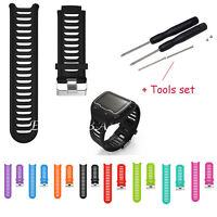 Sports Silicone Watch Band Strap For Garmin Forerunner 910XT GPS Watch with Tool