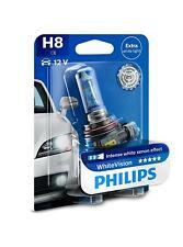 H8 PHILIPS WhiteVision 12V 35W 12360WHVB1 PGJ19-1 Car Headlight Bulb Single