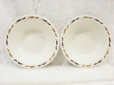 """Bristile / Wembley ware - 2 rimmed Bowls (5 1/8"""")  light & dark brown leaves vgc"""