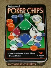 CARDINAL PROFESSIONAL 100 POKER CHIPS - Heavy Weight / Dual Toned (Gently Used)