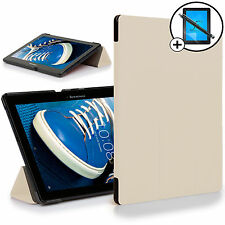 White Folding Smart Case Cover Stand Lenovo Tab 2 A10-70F Screen Prot Stylus