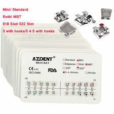 50x Dental Orthodontic Brackets Braces Mini Standard Roth Mbt 018 022 Azdent