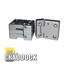 Land Rover Aluminium Door Hinges Kit with fitting for Series and Defender models