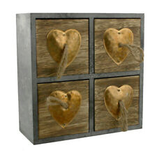 Wood & Metal Heart Small Storage Box.