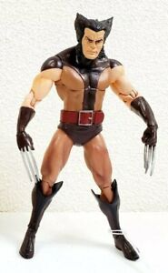 """2012 Diamond Select Marvel Select Wolverine Brown Suit Unmasked 6"""" Action Figure"""
