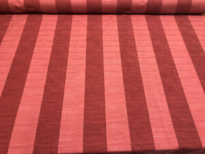 P Kaufmann Wine Red Maroon Stripes Buckly Fabric by the yard