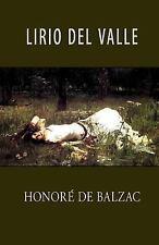 Lirio Del Valle by Honoré de Balzac (2013, Paperback)