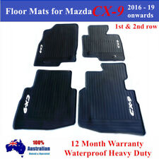 Waterproof Rubber Floor Mats for Mazda CX-9 CX9 2016 - 2018 2019 White Black