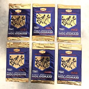 1996 Unopened 6 Pack Lot Pinnacle Dennys Full Motion Hologram Inserts Possible