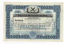 1928 Alles & Fisher, Inc. Stock Certificate