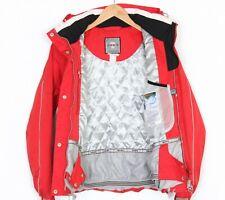 DESCENTE Negative Ions Red Padded Hooded Ski Jacket Women Size EU 38 MJ1195