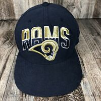 ST. LOUIS RAMS NEW ERA FITTED CAP HAT 7 1/8 NFL FOOTBALL 59FIFTY SPELL OUT BILL