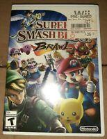 Super Mario Smash Bros Brawl Nintendo Wii Video Game Adult Owned 2008