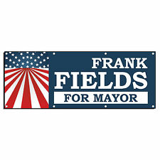 MAYOR ELECTION ELECT VOTE CUSTOM PERSONALIZED Banner Sign 2' x 4' w/ 4 Grommets